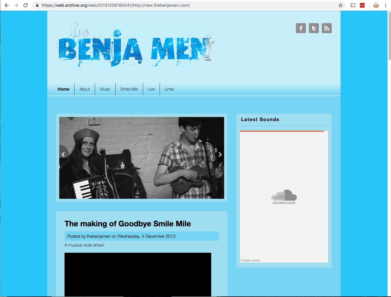 Screenshot of the Drupal-based website
